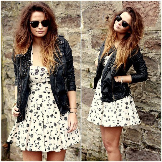 20 Ways to Wear Florals | I love, Love her and Black leather jackets
