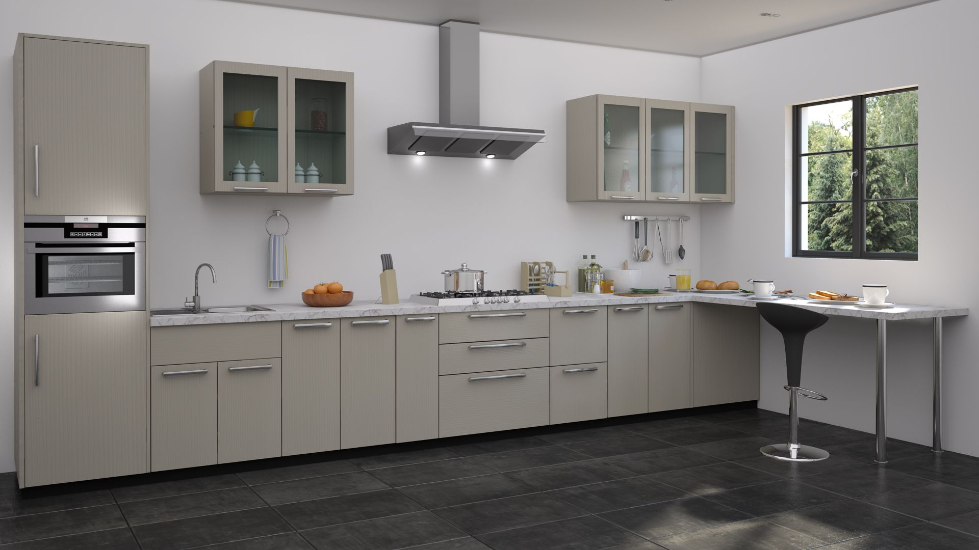 Straight modular kitchen ideas