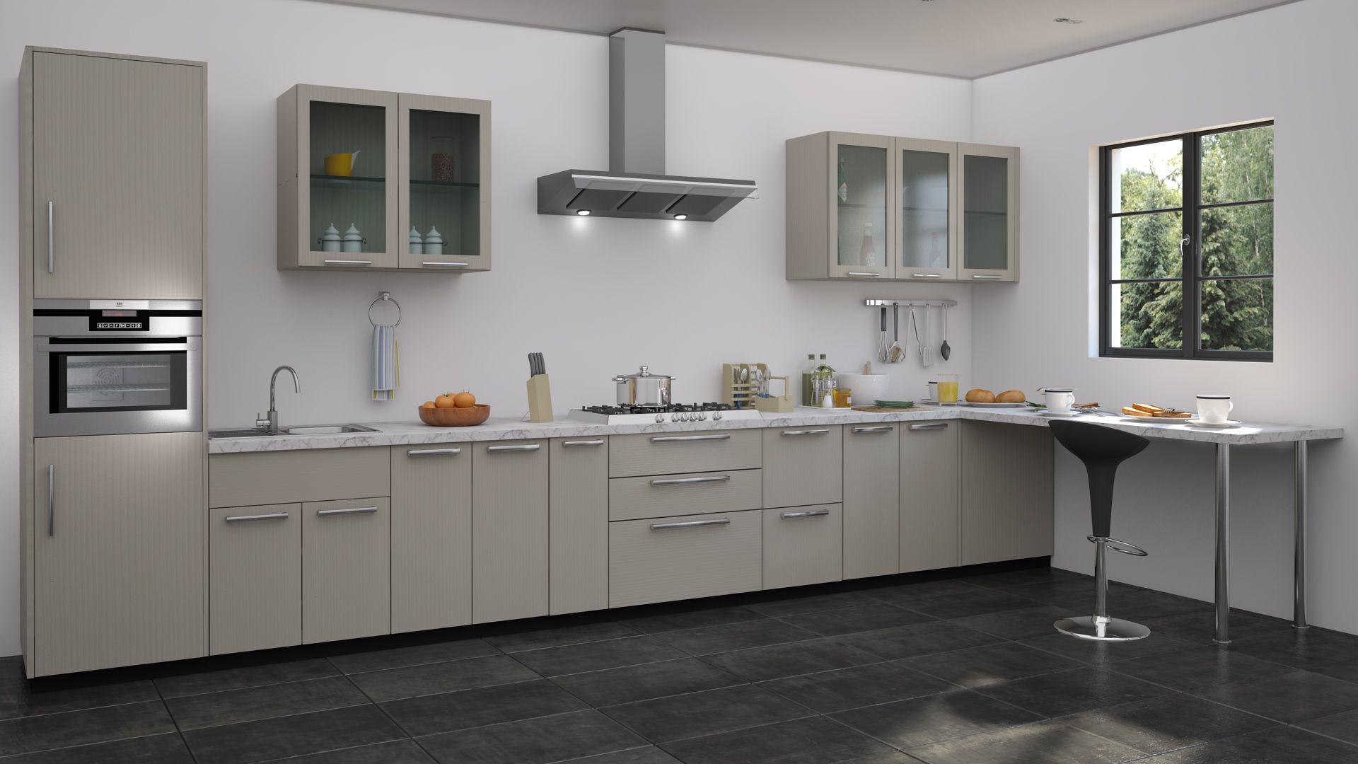 Straight Modular Kitchen Ideas Blue Kitchen Interior Interior