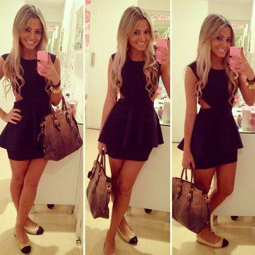 Vestido preto básico lindo