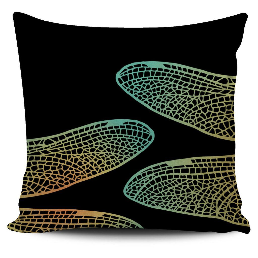 $5 FLASH SALE - Dragonfly Wings - Pillow set: 1 of 3 - Colorful zentangle inspired pillow covers!