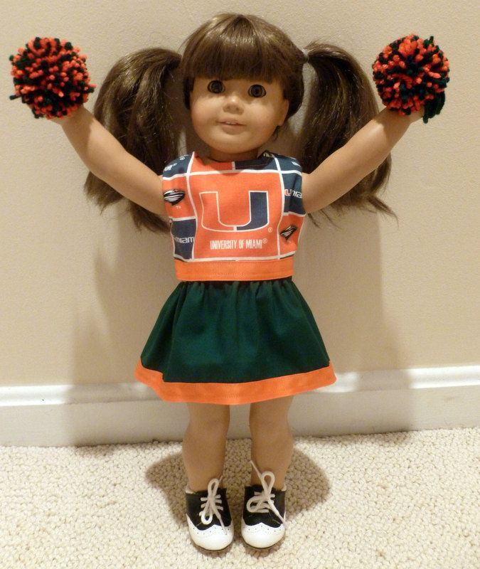 Reserved for Leslie - American Girl doll Miami Hurricanes cheer outfit #18inchcheerleaderclothes American Girl doll clothes cheerleader Miami Hurricanes 18 inch doll University of Miami. $16.00, via Etsy. #18inchcheerleaderclothes Reserved for Leslie - American Girl doll Miami Hurricanes cheer outfit #18inchcheerleaderclothes American Girl doll clothes cheerleader Miami Hurricanes 18 inch doll University of Miami. $16.00, via Etsy. #18inchcheerleaderclothes