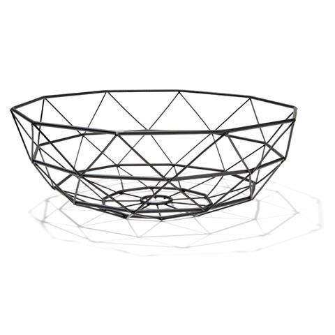 Wire Fruit Bowl Matte Black Kmart Geometric