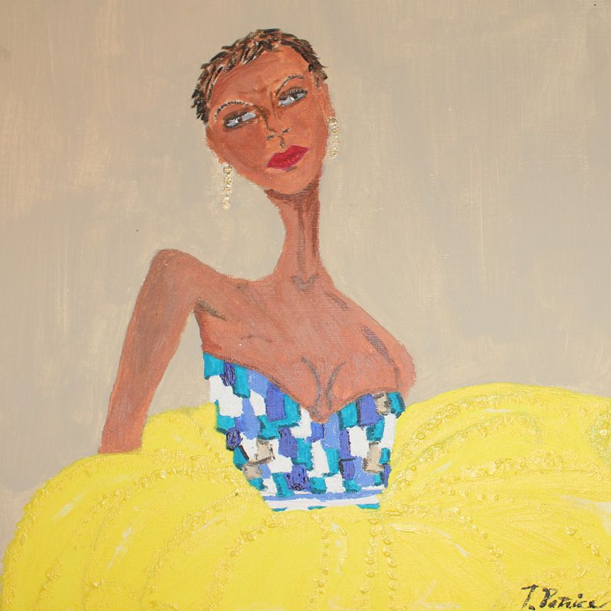 """""""Girl in yellow"""" Created by T.Patrice"""