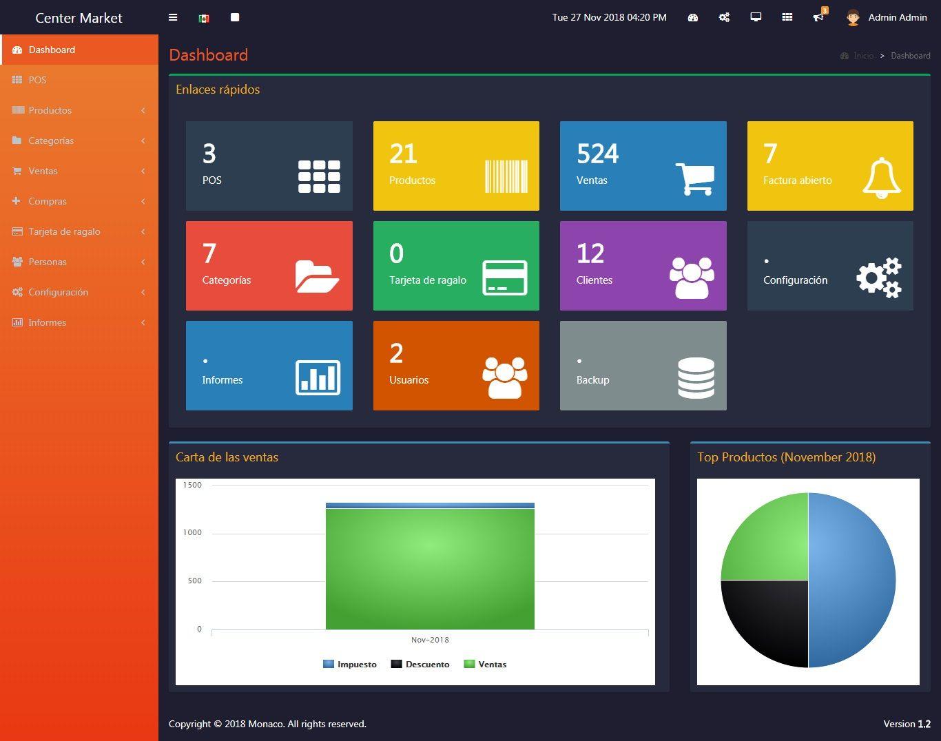 Monaco Pos Sistema Punto De Venta Punto De Venta Diseño De Sitios Web Diseño De App
