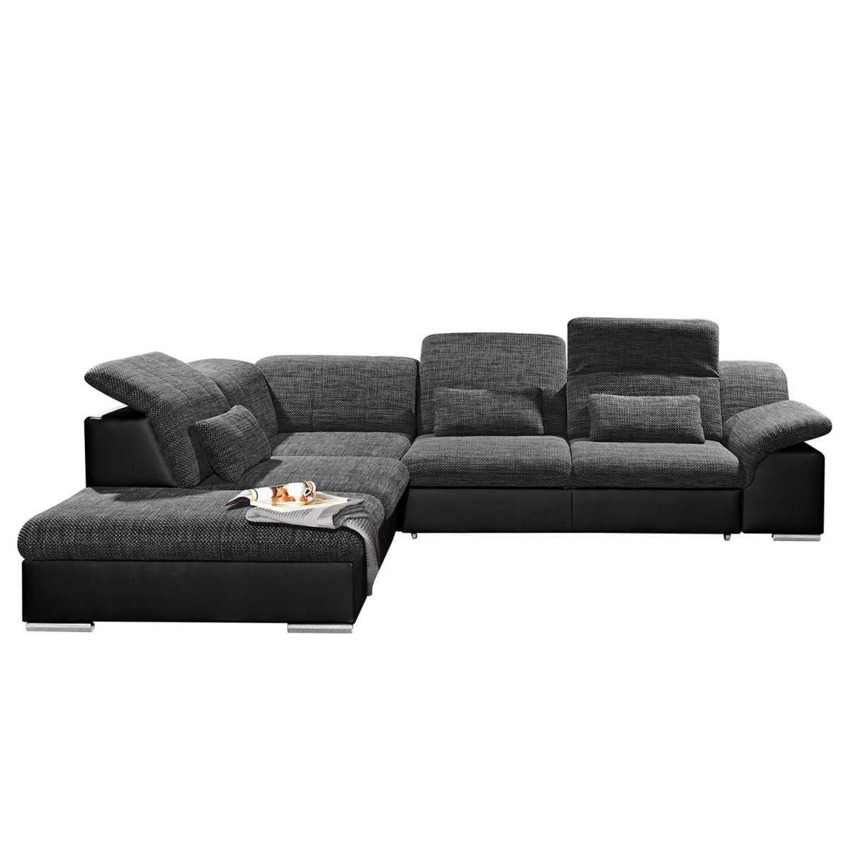 ecksofa mikano mit schlaffunktion sitztiefenverstellung. Black Bedroom Furniture Sets. Home Design Ideas