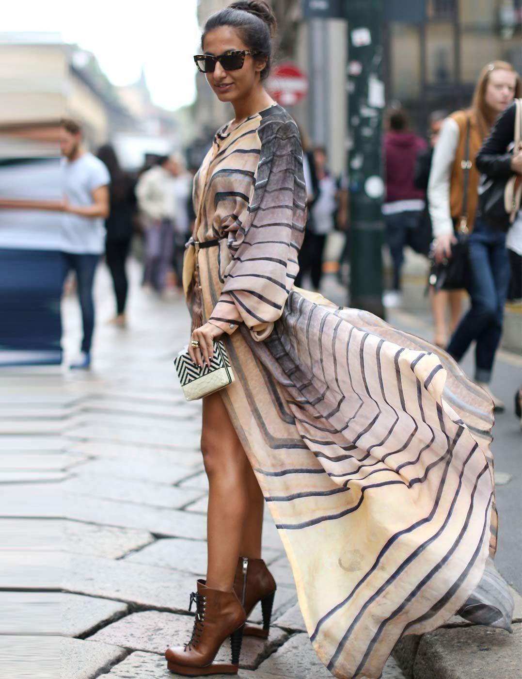 stripes in Milan