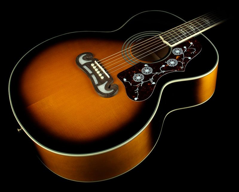 Epiphone Ej 200 Super Jumbo Acoustic Guitar Vintage Sunburst Epiphone Guitar Acoustic Guitar