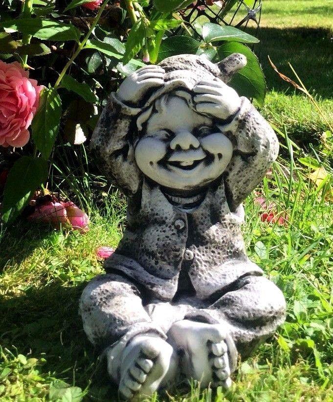 Gnom wichtel troll kobold gartenfigur steinfigur for Deko gartenartikel