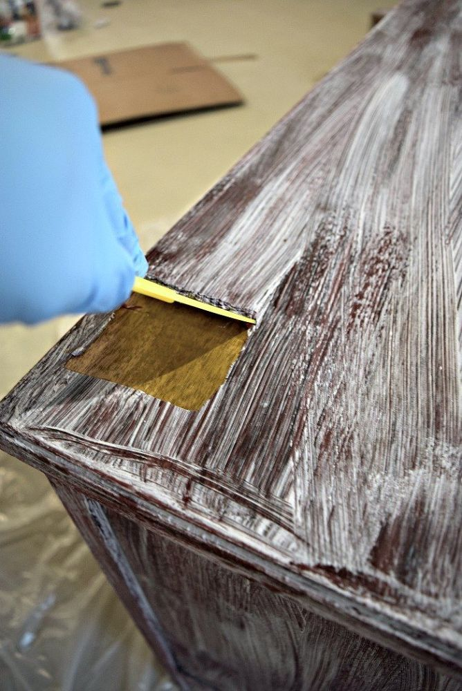 How to Remove Paint From Old Wood Furniture the Easy Way ...