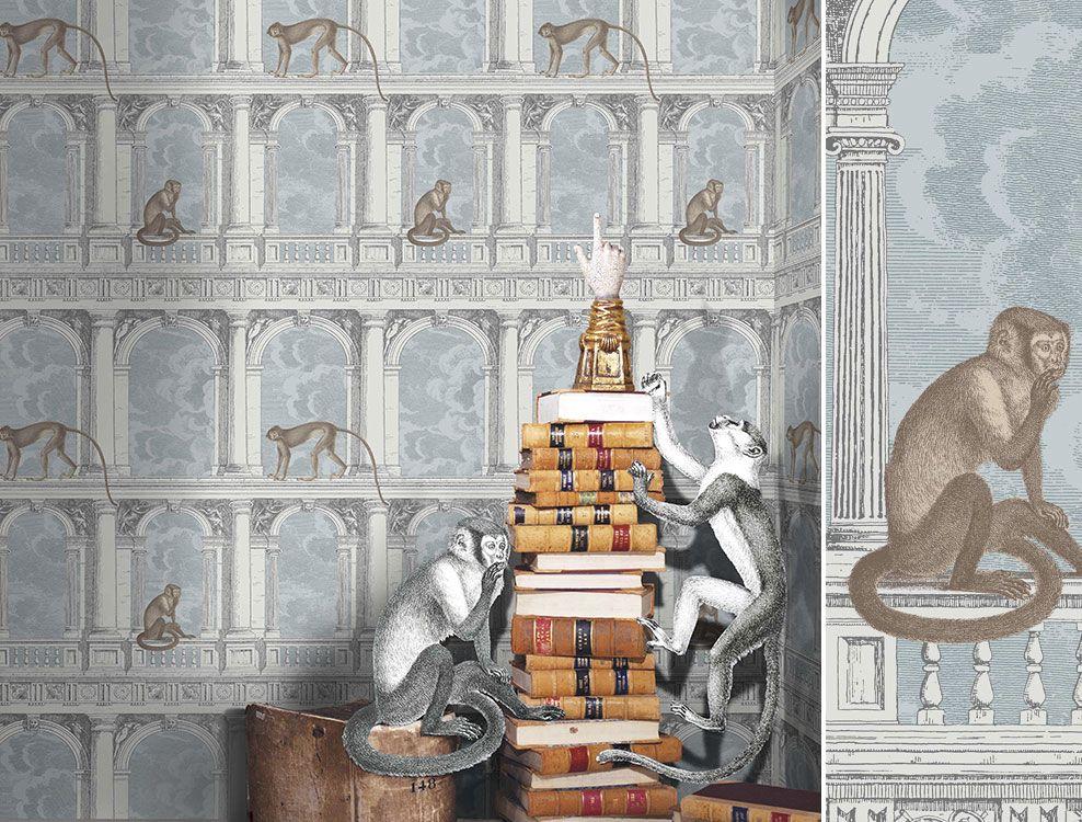 Papier peint Procuratie Con Vista, collection Fornasetti de Cole