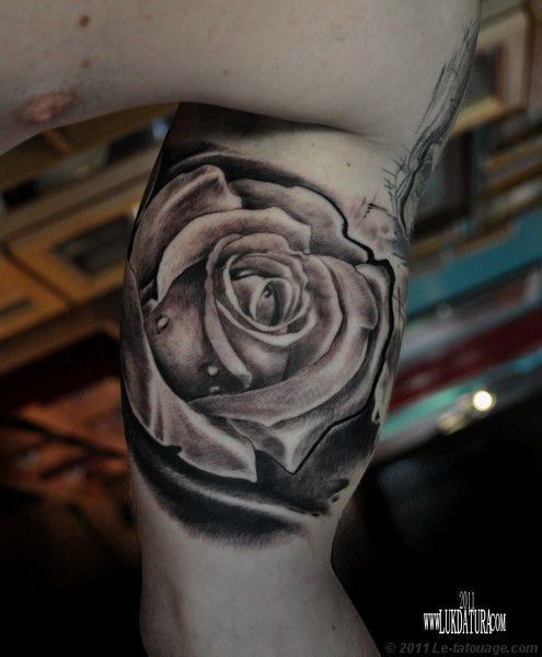 Tatoo Art Rose Tatouage Rose Realiste Photos Et Modeles De