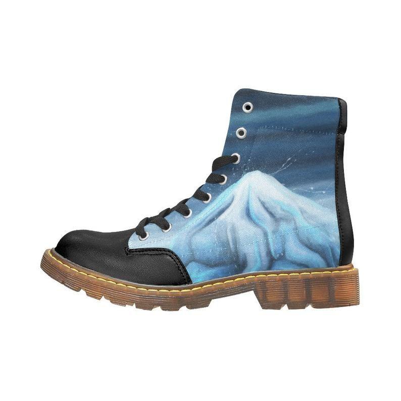 Bleu Sur Iceberg Bottes Motif Chaussures Montantes Imprimé Glacé Y2IWEDH9