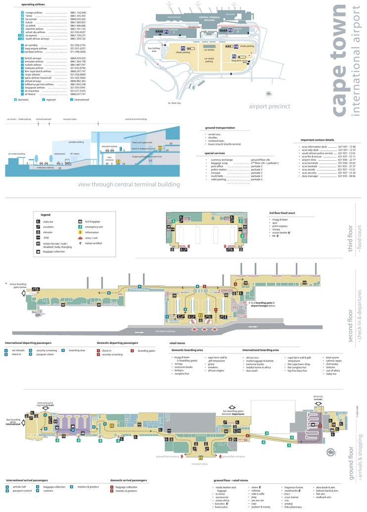 Cape Town Airport map | Maps | Pinterest | Cape town, Cape and South ...