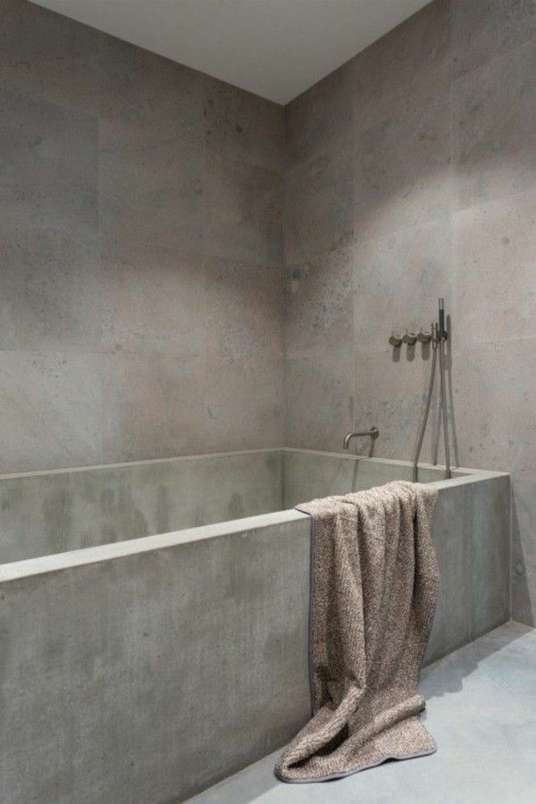 Favori Béton Ciré Salle de Bain : 17 Idées [TENDANCE] | Beton ciré  XC05
