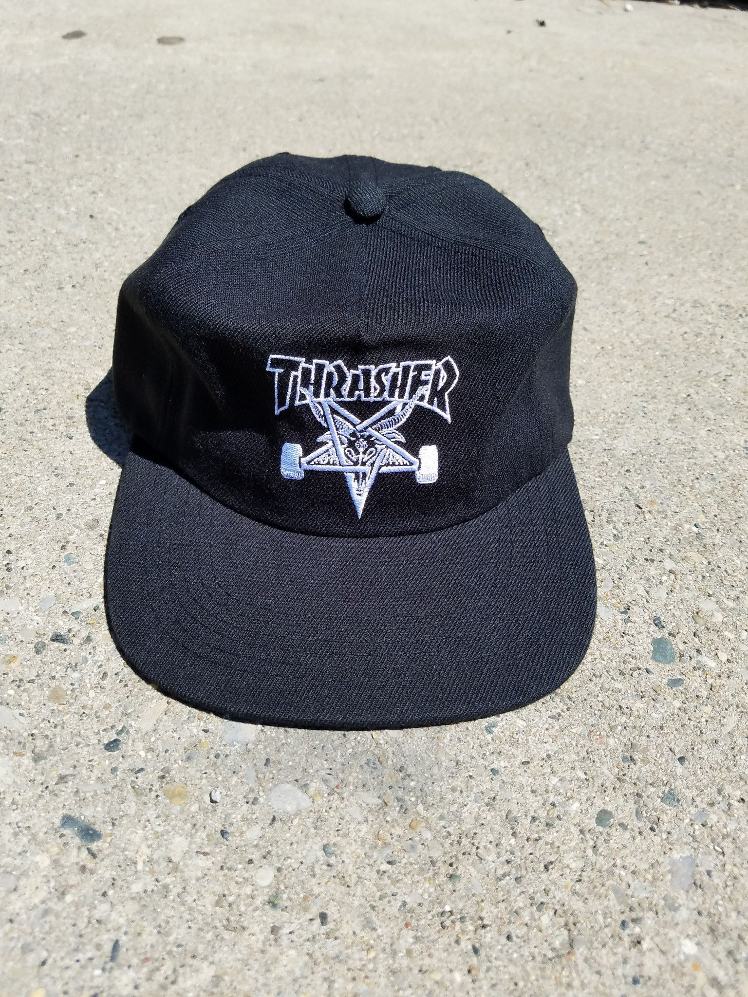 d9e8632b24b Thrasher Skategoat wool blend 6 panel snapback
