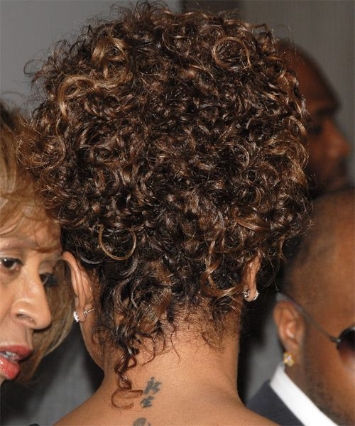Janet Jackson Casual Curly Updo Hairstyle Side View 1