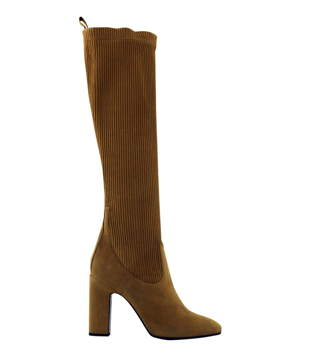 Pierre Hardy Taupe Suede Thigh-High Boots Pd5XeMu