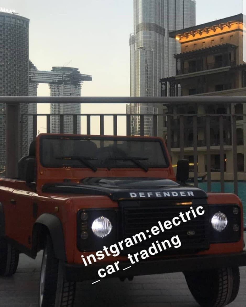 اعلان نستقبل طلبات سيارات اطفال لاندروفر ديفندر على الخاص الألوان المتوفرة أبيض برتقالي أخضر المواصفات ريموت كنترول للتحكم Car Electric Car Defender