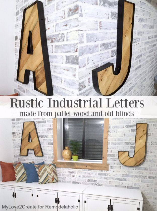 41 Amazing Diy Architectural Letters For Your Walls Living Room