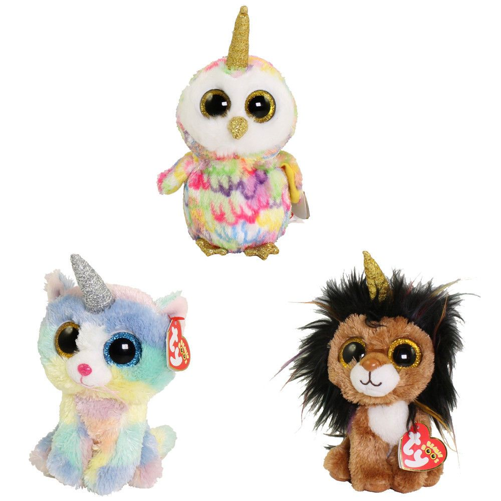 37cd2b9ba4d Current 438  Set Of 3 2018 Ty Beanie Boos 6 Heather Ramsey Enchanted Plush  W Ty Heart Tags -  BUY IT NOW ONLY   23.95 on eBay!