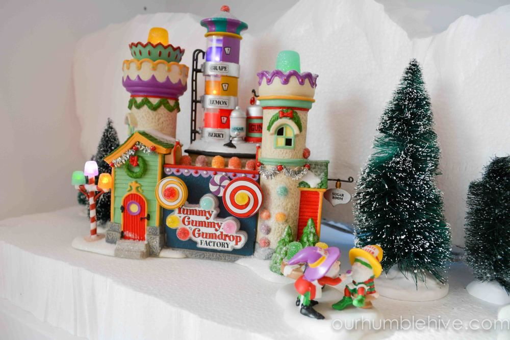 North Pole Village Display | Department 56 | Village Display Ideas | Christmas Village | Christmas Home Tour | Our Humble Hive