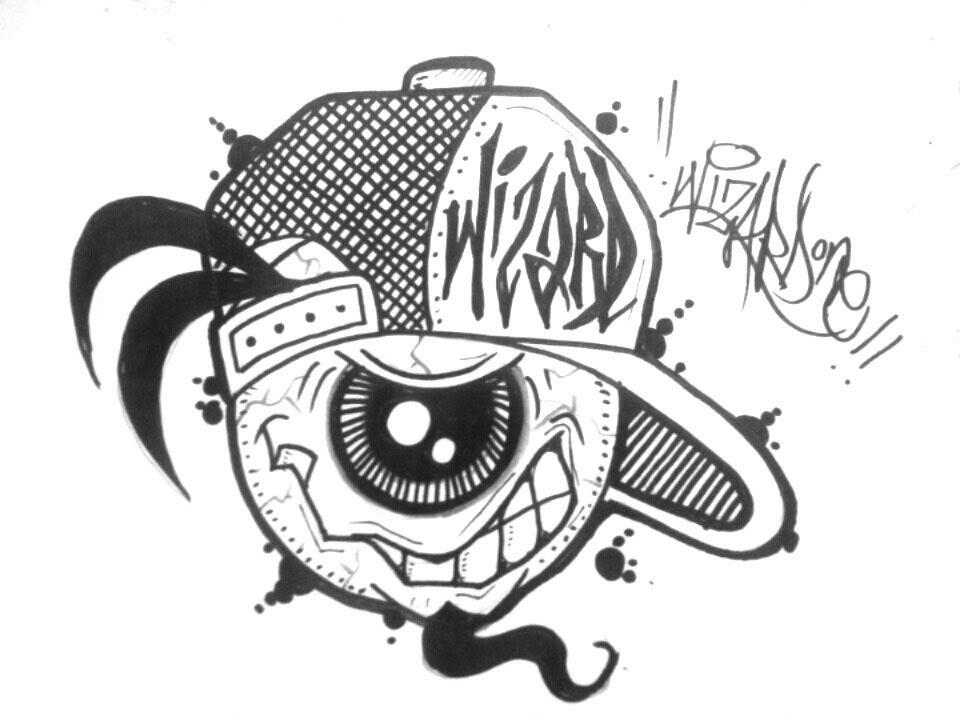 How To Draw A Graffiti Character With One Eye Graffiti Characters Graffiti Cartoons Graffiti