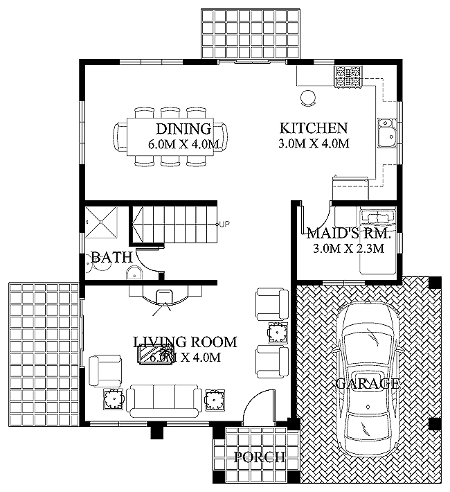 modern house design 2012005 ground floor1 1 - House Design Plans