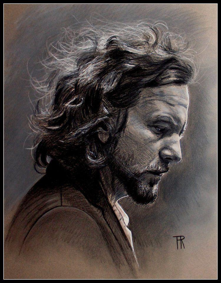 Eddie Vedder Pastel Drawing By Theo Reijnders Portrait Eddie Vedder Pearl Jam Tattoo