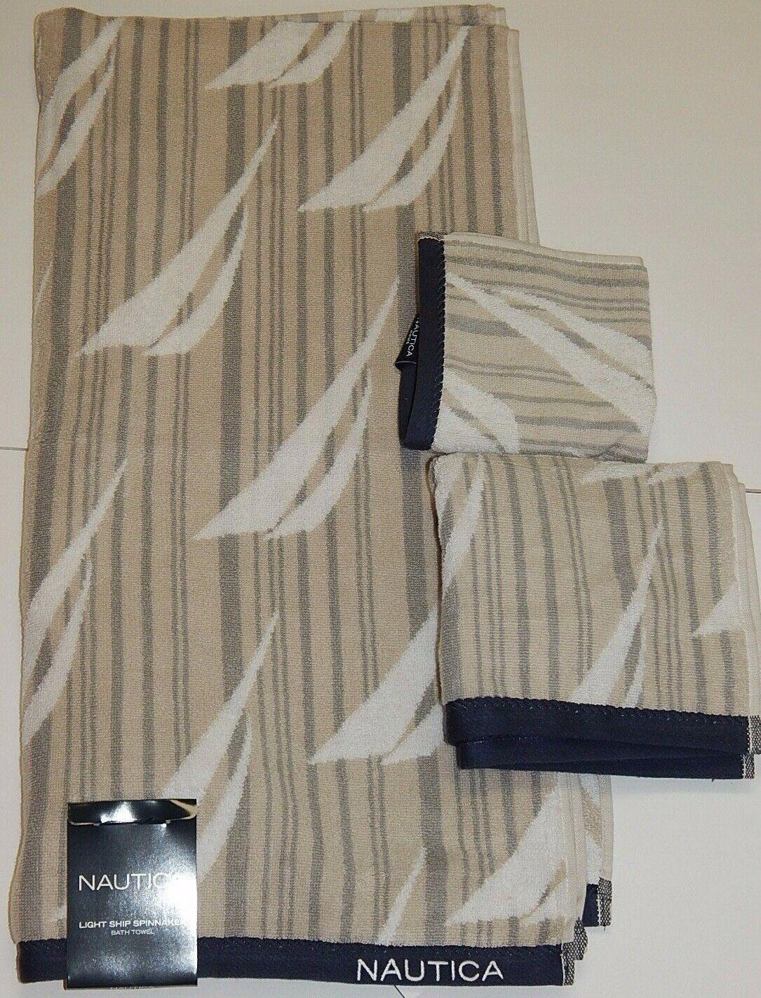 Details About Nautica 100 Cotton Light Ship Spinnaker 3 Piece Bath Hand Wash Towels Set New In 2020 Best Bath Towels Bath Towels Luxury Cotton Lights