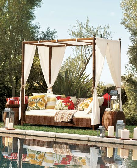 Pottery Barn Outdoor Canopy Bed Outdoor Daybed