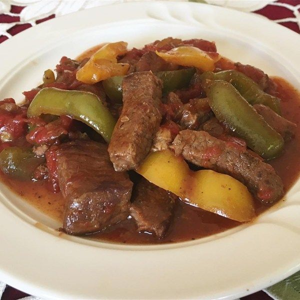 Slow-Cooker Pepper Steak #MyAllrecipes #AllrecipesAllstars #IMadeIt