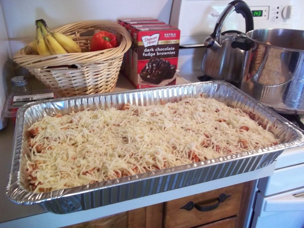 Baked Ziti For A Crowd 10x Easier Than Lasagne Food