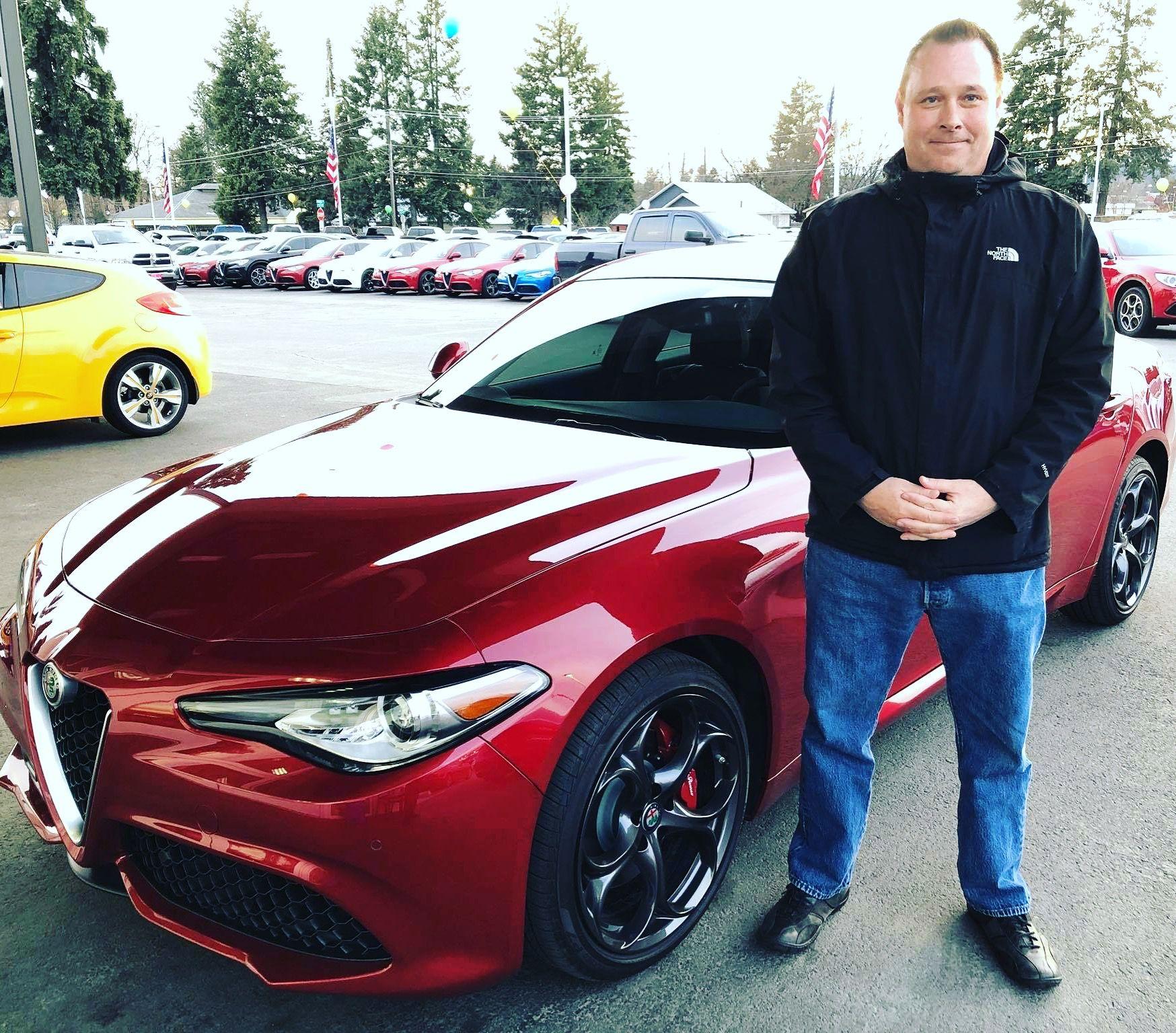 Congratulations To Dave On Your New Alfa Romeo Giulia Ti Sport All The Way From Tenino Washington 6 Hour Drive Alfa Romeo Giulia Lease Specials Alfa Romeo