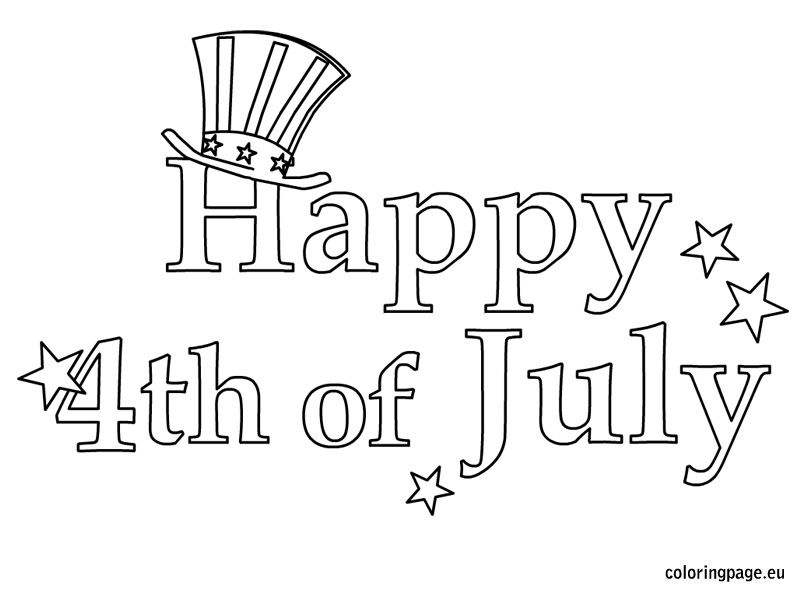 Happy 4th Of July Star Coloring Pages July Colors Happy Fourth