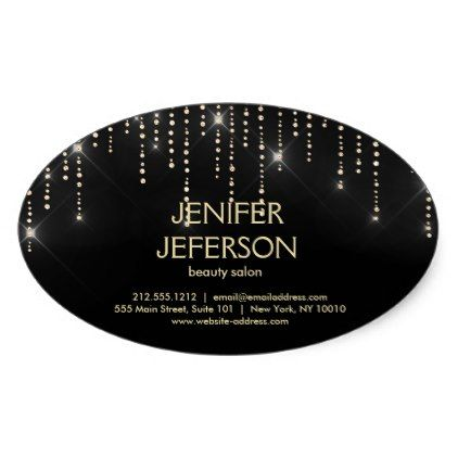 Sparkles business name sticker stylist gifts makeup
