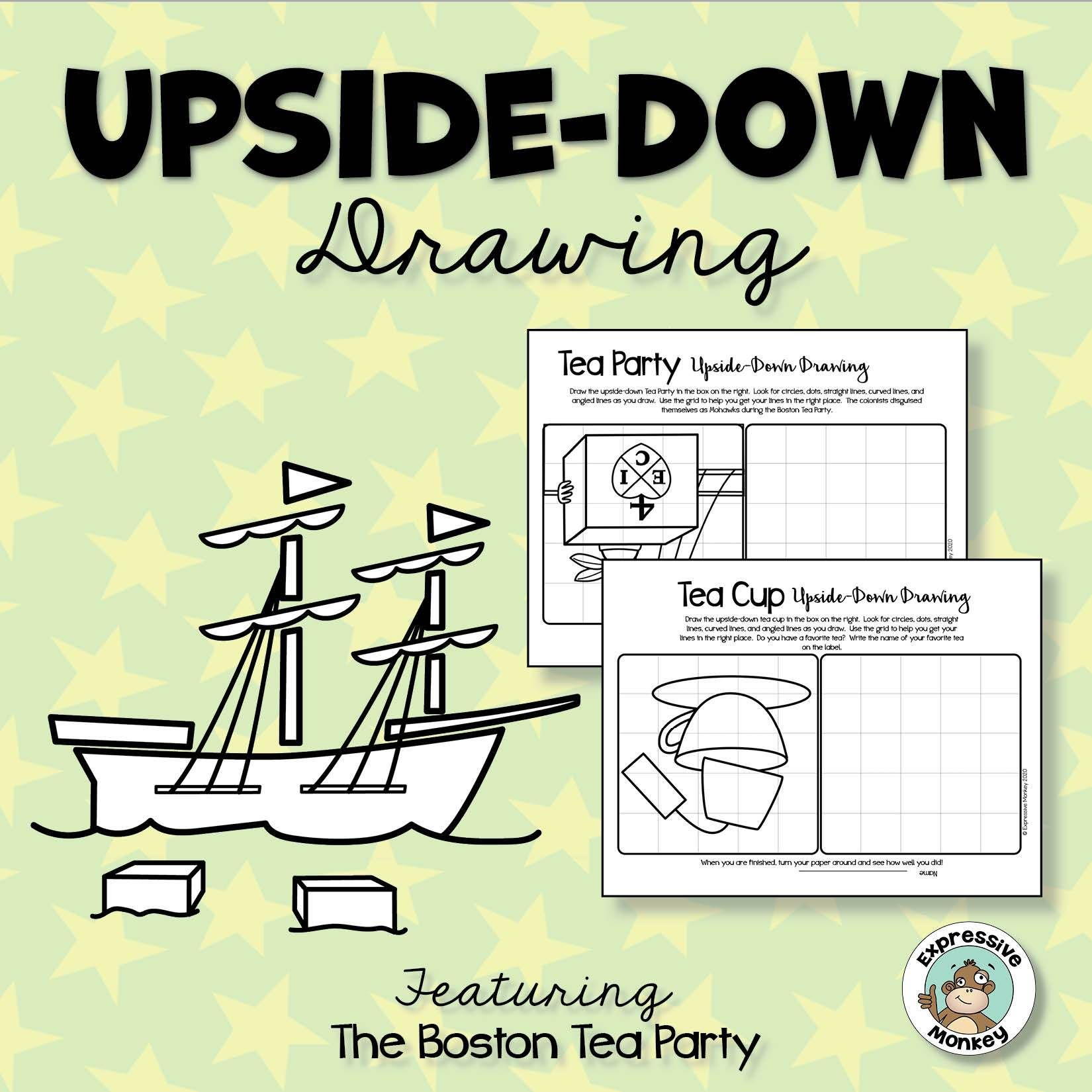 small resolution of Boston Tea Party Upside-Down Drawing   Boston tea party lesson