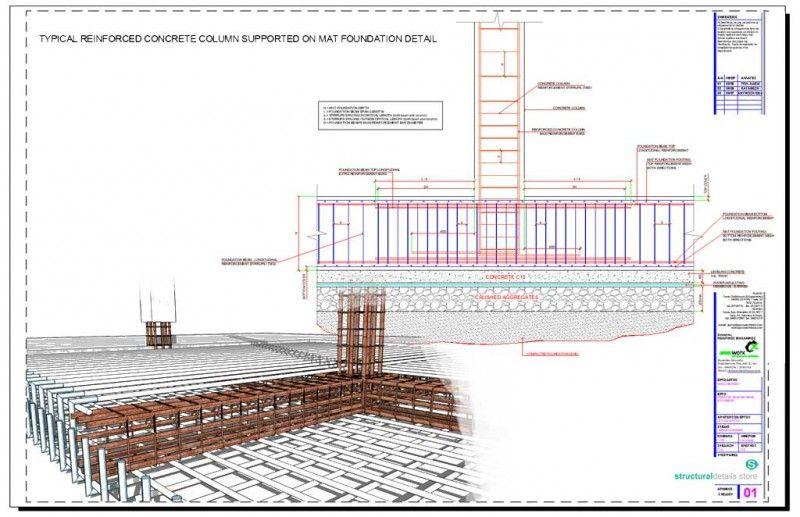 Internal Column Beam Frame Support Detail In 2020 Concrete Retaining Walls Reinforced Concrete Concrete Column