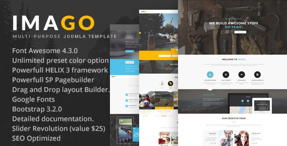 Nice Imago Multipurpose Joomla Template Check More At Http Www