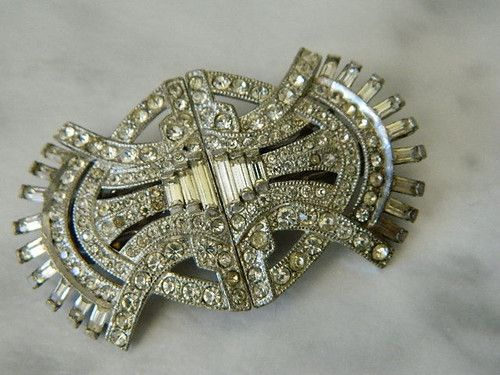 70d4e60014c 1931 Coro Duette PAT NO 1798867 Clear Jeweled Brooch | eBay Antique Jewelry,  Vintage Antiques