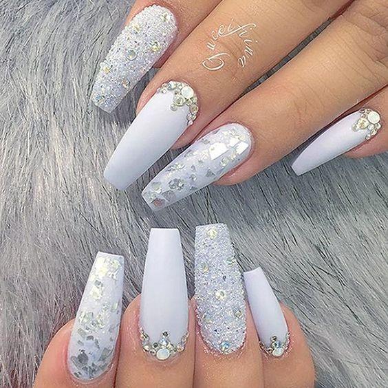 34 Classy Wedding Nail For Bride Bride Nails Wedding Nails Design Fall Acrylic Nails