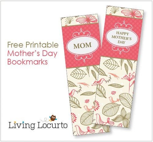 Mothers Day Bookmarks Coloring Sheet