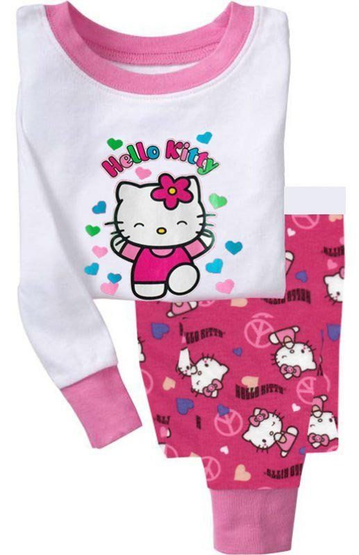 d30ed46ee19 Wholesale Cheap Children Clothing Sets for Hello Kitty,girls pajamas, children sets/kids sleepwear,Free shipping 6sets/lot on AliExpress.com.  $37.99