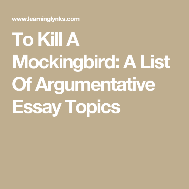 To Kill a Mockingbird Essay Topics - Mr. Sheehy's EnglishMr. Sheehy's English