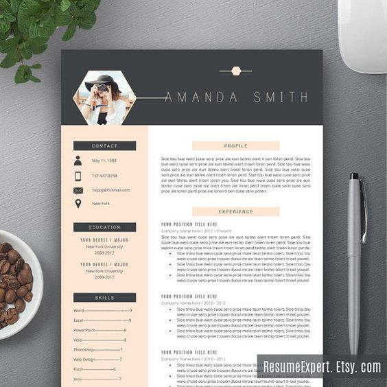 professional resume template bundle  cover letter  cv