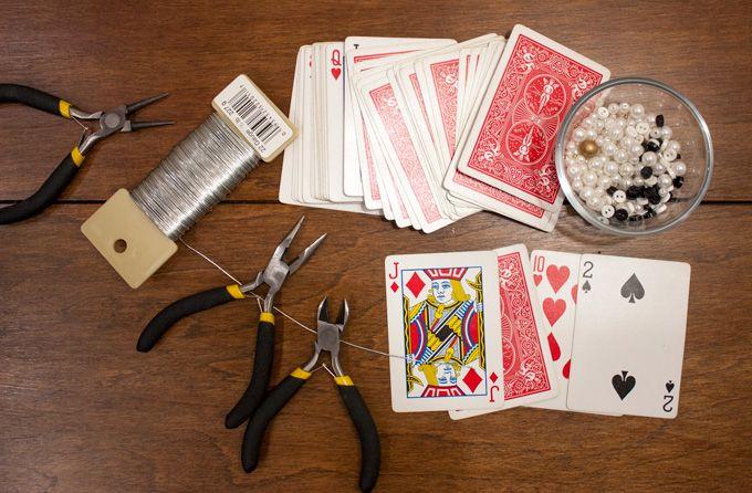 DIY: Playing Card Ornaments