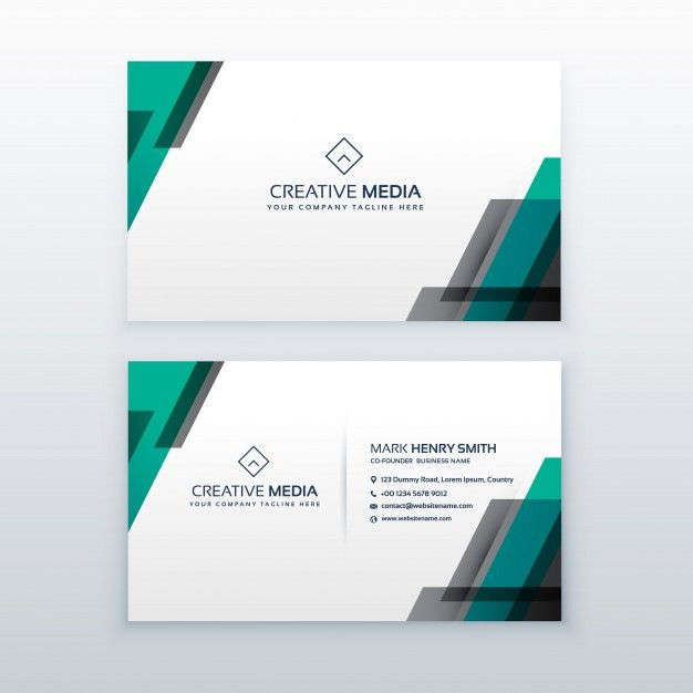 Professional Clean Business Card Design Free Vector Free