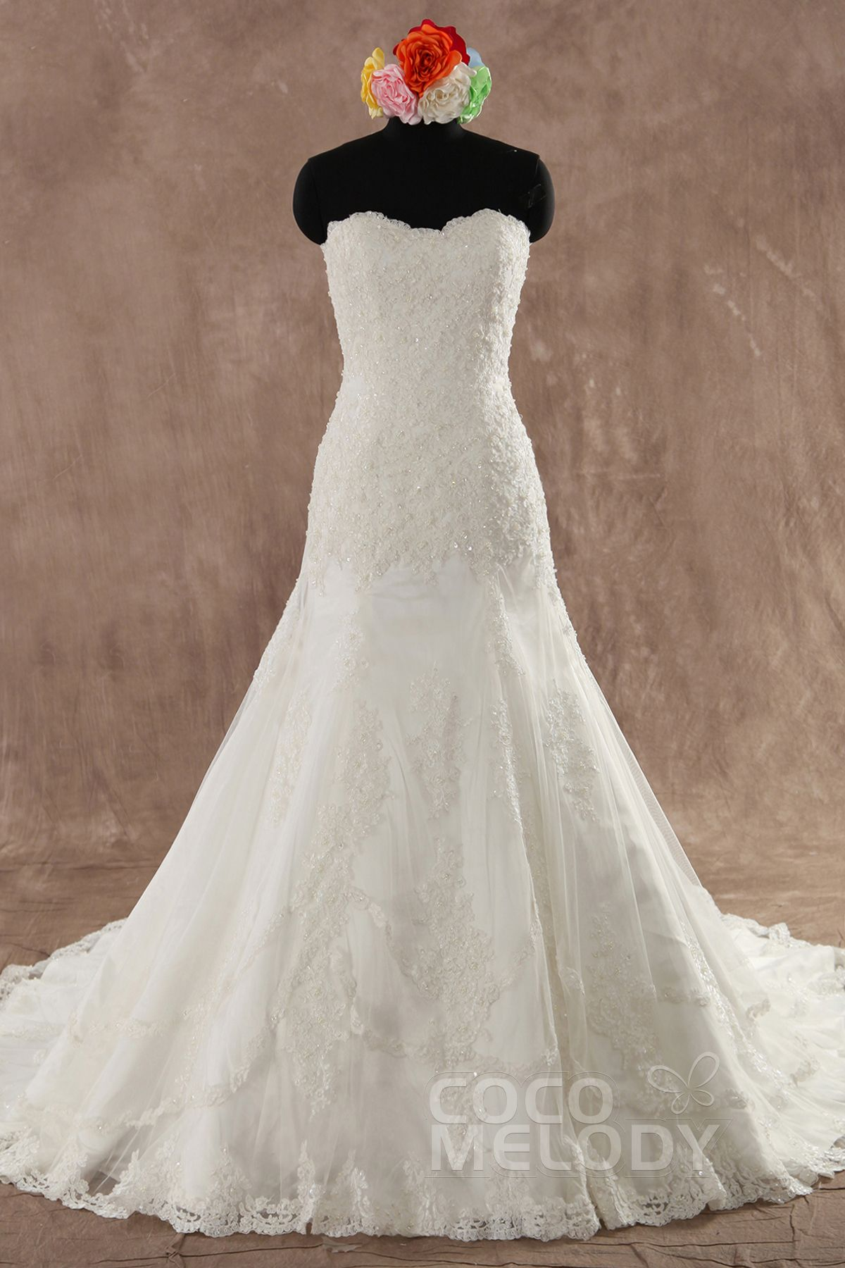 Impressivealinesweethearttrainlaceivorysleevelessweddingdress Withappliqueslwxt1406d: Linen Line Wedding Dress At Websimilar.org