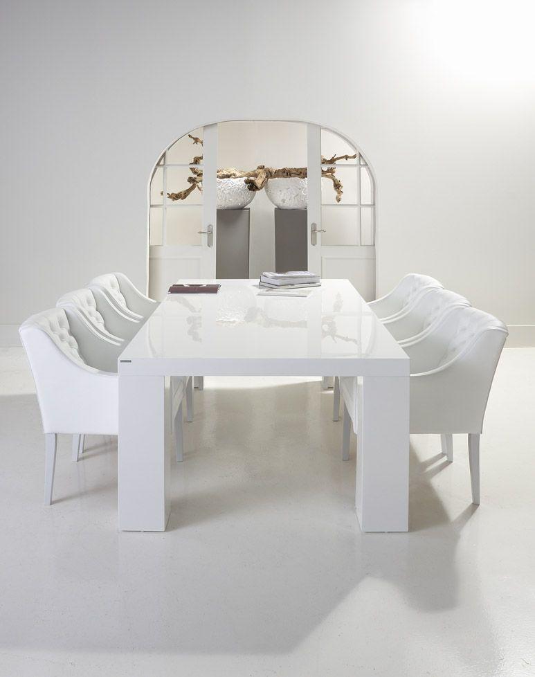 eetkamerstoel Pearl - #modern #wit #leder - #Goossens wonen & slapen ...