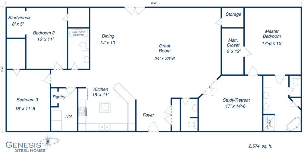 Steel Home Plan. $65,000--Wow!